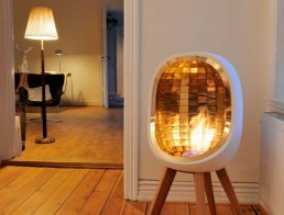 Bio fireplace - gold fountain of life
