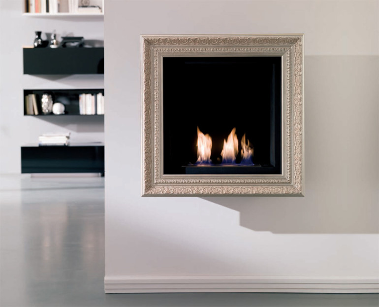 Magic By Ozzio Design.Picture Painted With Bio Fireplace Lovter