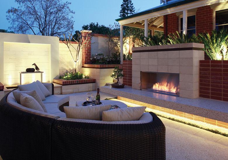 Bio fireplace u2013 in a secret garden - LOVTER